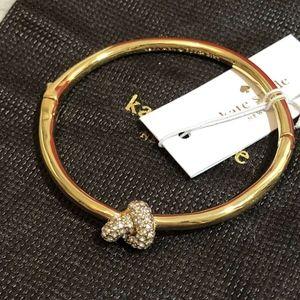 Kate Spade Sailor's Knot Hinge Gold Tone Bracelet